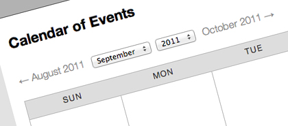 School Web Design Feature - School Calendar